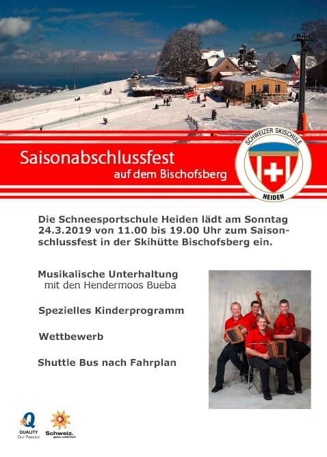 Saisonabschluss Skischule Heiden