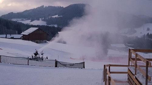 Schneekanone auf dem Bischofsberg